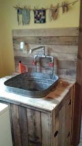 small laundry room sink small laundry room sink utility sink i built from pallet wood and an