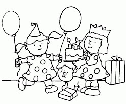 happy birthday for kids coloring page free download