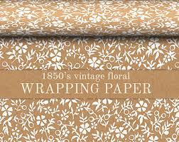 floral wrapping paper rolls gift wrapping paper etsy