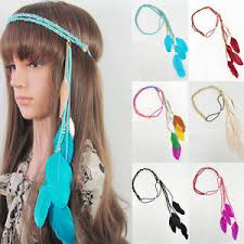 boho hair accessories feather tassel band hair accessory festival coachella party