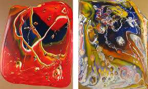 used ceramic pouring table acrylic pouring techniques