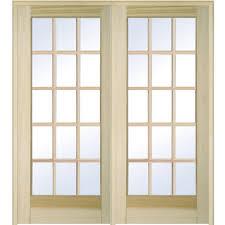 home depot solid wood interior doors mmi door 62 in x 81 75 in classic clear glass full lite