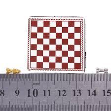 Metal Chess Set by 1 12 Dollhouse Miniature Metal Chess Set Silver U0026 Gold L1u6 Ebay