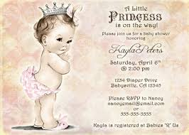 Indian Baby Shower Invitation Cards Vintage Baby Shower Invitation For Princess Crown
