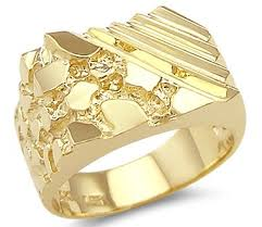 gold ring images for men new solid 14k yellow gold unique large mens nugget ring