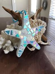 stained glass mosaic starfish ornament by blueoceanglass