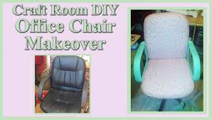 Diy Office Chair Covers Craft Room Diy Office Chair Makeover 2 Youtube