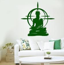 Wall Decals Vinyl Sticker Mandala by Buddha Wall Decal Chakra Mandala Mantra Chakra Meditation Vinyl