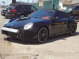 used porsche 911 for sale ebay for sale chris brown s crashed porsche 911 turbo s cabriolet