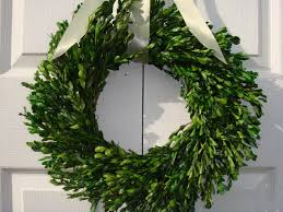 decorating amazing preserved square boxwood wreath with green