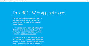 erro 404 no encontrado geapcombr error 404 web app not found azure web app ayush rathi