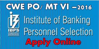 ibps recruitment cwe po mt vi u20132016 apply online indian jobs
