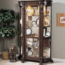 decorating elegant curio cabinet for stunning home furniture
