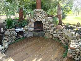 wooden deck outdoor fireplaces creative fireplaces design ideas