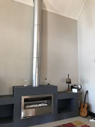 Gas Fireplace Flue by Pebble Gas Fireplace And Stainless Steel Flue For R8000
