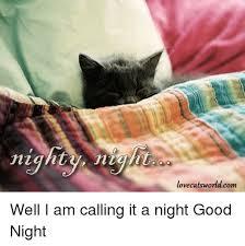 Nighty Night Meme - nighty night lovecats world com well i am calling it a night good