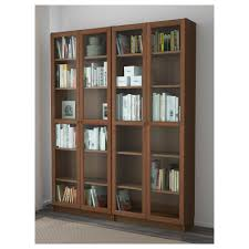 Bookcase With Frosted Glass Doors Billy Oxberg Bookcase White Glass 63x79 1 2x11