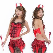 exposed devil costume w8446