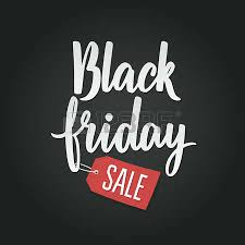 black friday free black friday calligraphic advertising poster design vector