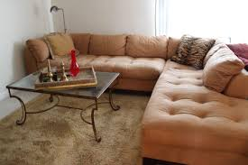 fabulous tufted brown leather l shapes cool couches with antique