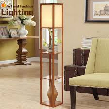 Shelf Floor Lamp Wooden Floor Lamps With Shelves Home Decorations Fashionable