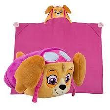 paw patrol blankets hooded blanket skye pink helicopter pup kids