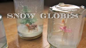 how to make snow globes christmas holiday craft youtube