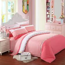Girls Queen Size Bedding Sets by Pink And White Cute Princess Themed Girls 100 Cotton Full Queen