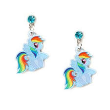 claires earrings my pony rainbow dash drop earrings from s