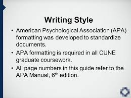 paper written in apa format 6th edition