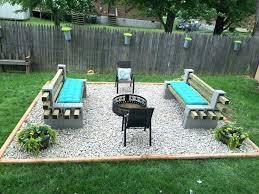 Block Firepit Pit Backyard Ideas Outstanding Cinder Block Pit Design