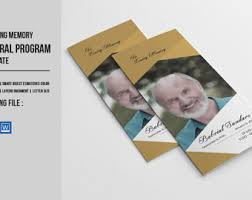 Elegant Funeral Programs Elegant Funeral Program Template Memorial Program Instant