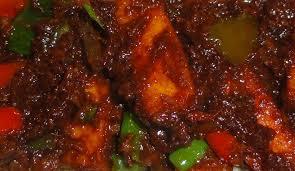 Tasty Dinner Party Recipes - chilli paneer vegetarian recipe a milder but very tasty version