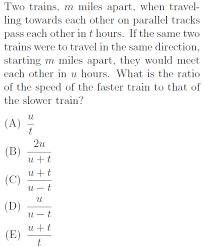 tough distance rate time problem gre math practice question 55