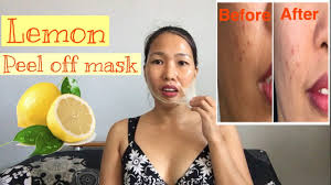 Masker Garnier Lemon lemon peel mask garnier light complete reduces pimple scars