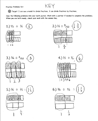 dividing a whole number by a fraction worksheet worksheets