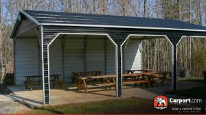 Outdoor Carport Canopy by Outdoor Metal Pavilions U0026 Picnic Shelters For Sale Carport Com