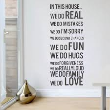 one pcs quotes house decal 60 80cm vinyl wall stickers home blog house wall stickers