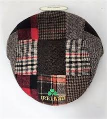 Patchwork Cap - blessing tweed flat cap patchwork ireland shamrock motif new