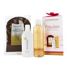 whitetobrown flawless instant tan kit 150ml tan liquid mitt