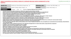 Resume Examples For Factory Workers by Asbestos Worker Cover Letter