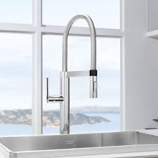 gold blanco meridian semi professional kitchen faucet centerset