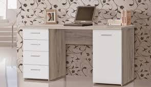 Schreibtische Jugendschreibtisch Schreibtisch Net 145 Cm Bürotisch Dekor Sandeiche Weiß