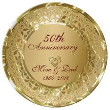 anniversary plates 50th anniversary 50th anniversary plates zazzle