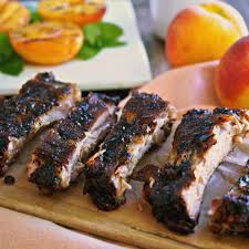 peach bourbon baby back ribs simply sated