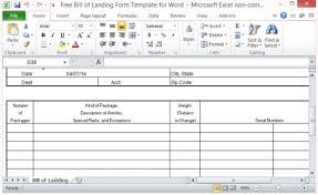 Microsoft Excel Form Templates Free Bill Of Lading Form Template For Excel