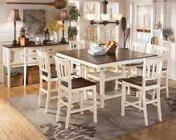 white counter height kitchen table and chairs news country style dining table on primrose country 6 piece dining