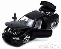 nissan skyline gt r black jada toys bigtime kustoms 92356 1