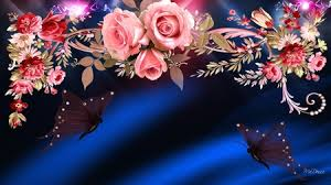 Roses And Butterflies - of roses and butterflies flowers nature background wallpapers