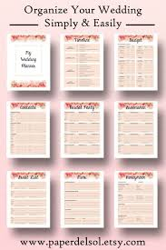 wedding planner printable wedding planner book printable